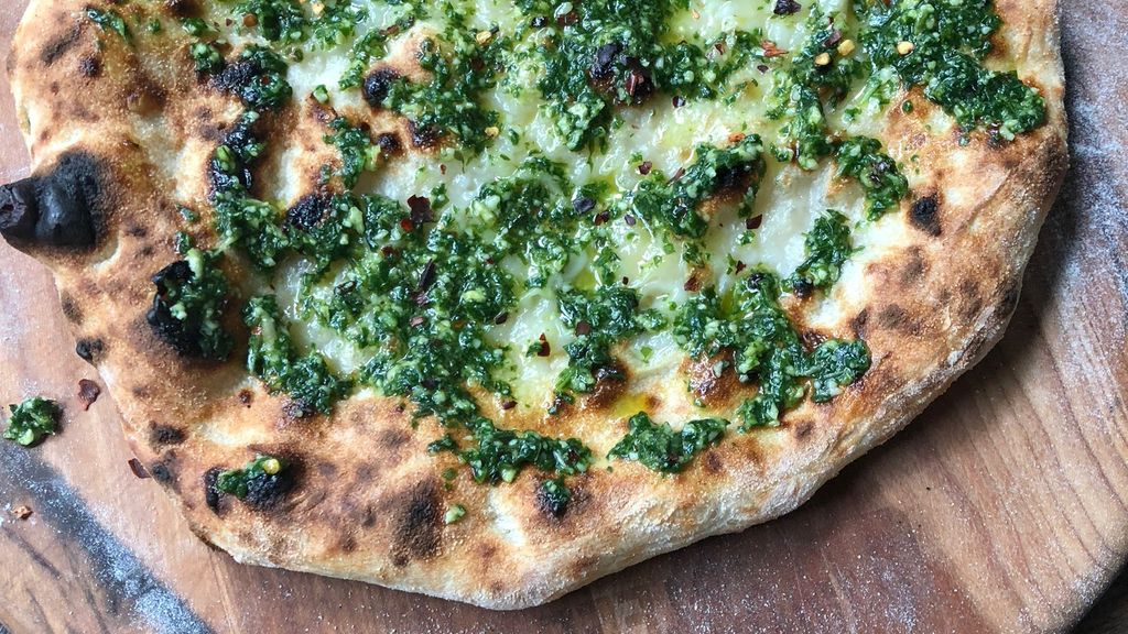 Naked Pesto Pizza