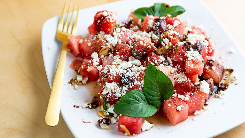 Watermelon, Feta and Herb Salad