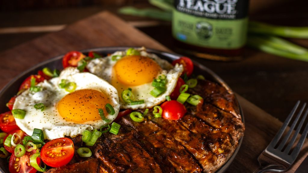 Sauced-Up Steak and Eggs