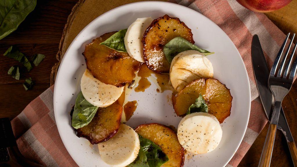 Caramelized Peach Caprese Salad