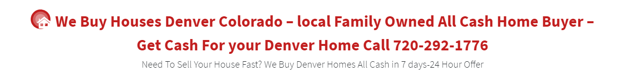 We buy houses denver colorado logo banner