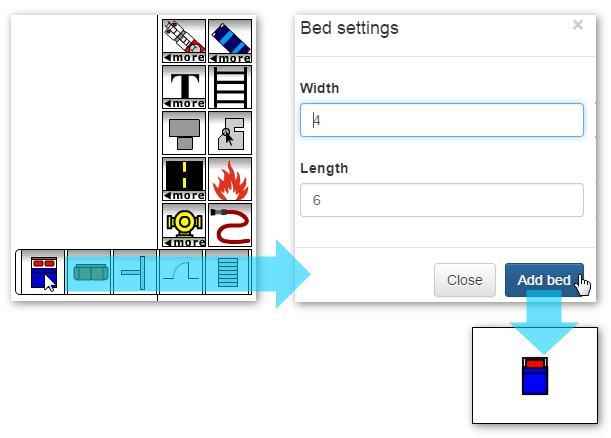 Adding a Bed Icon