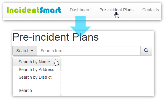 Viewing Pre-Incident Plan through the Quick Links Bar