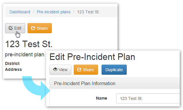 Editing the Pre-Incident Plan