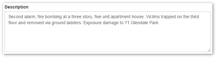 Adding Incident Description