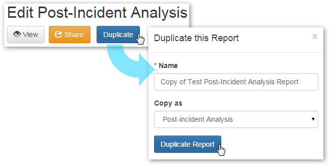 Duplicating the Report
