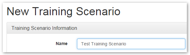 Specifying the Scenario Name