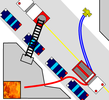 IncidentSmart map showing a structure designed with the advanced structure tool