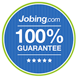 Jobing.com 100% guarantee badge