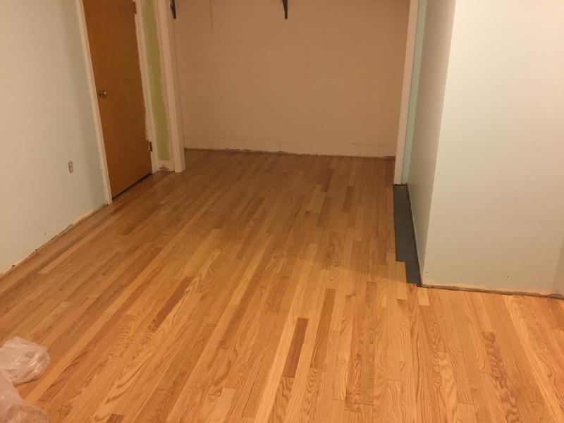 """Before and after image for 3/4"""" x 2-1/4"""" Select Red Oak"""