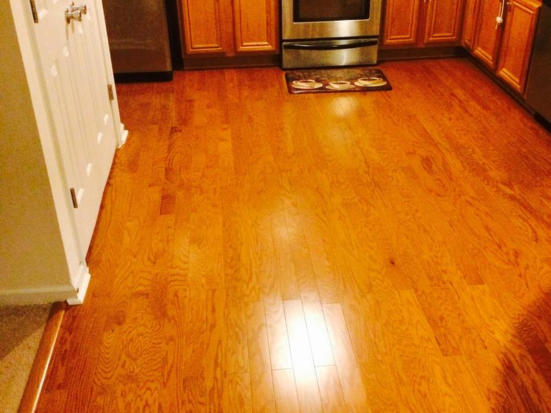 """Before and after image for 3/8"""" x 3"""" Butterscotch Oak"""