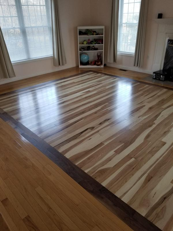 """Before and after image for 3/4"""" x 3"""" Natural Hickory"""