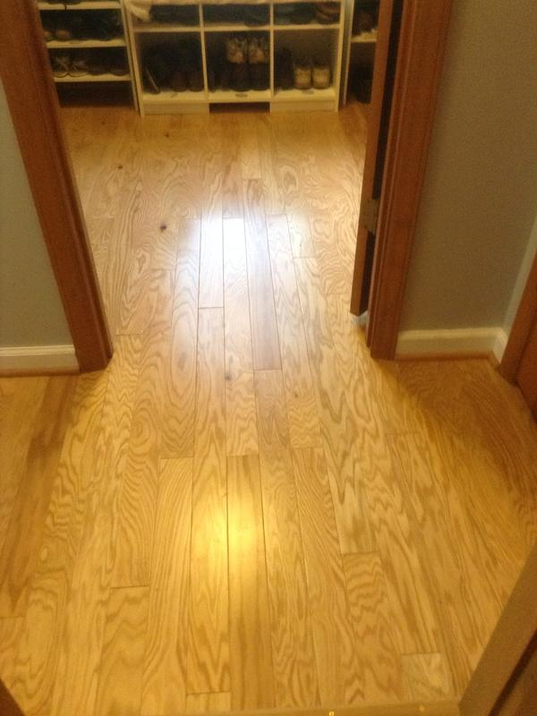 """Before and after image for 3/8"""" x 3"""" Red Oak"""