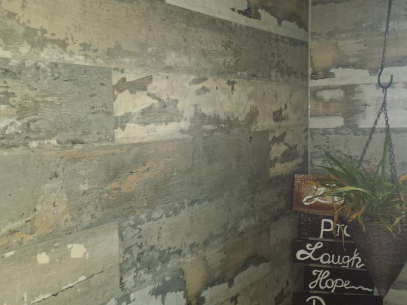 Before and after image for 5.5mm Reclaimed Barn Board EVP