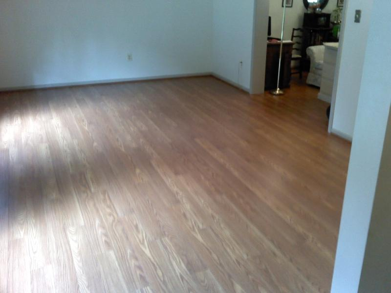 Before and after image for 10mm+pad Butterscotch Oak