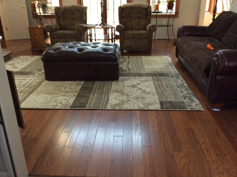 "Before and after image for 3/4"" x 3-1/4"" Williamsburg Oak Rustic"