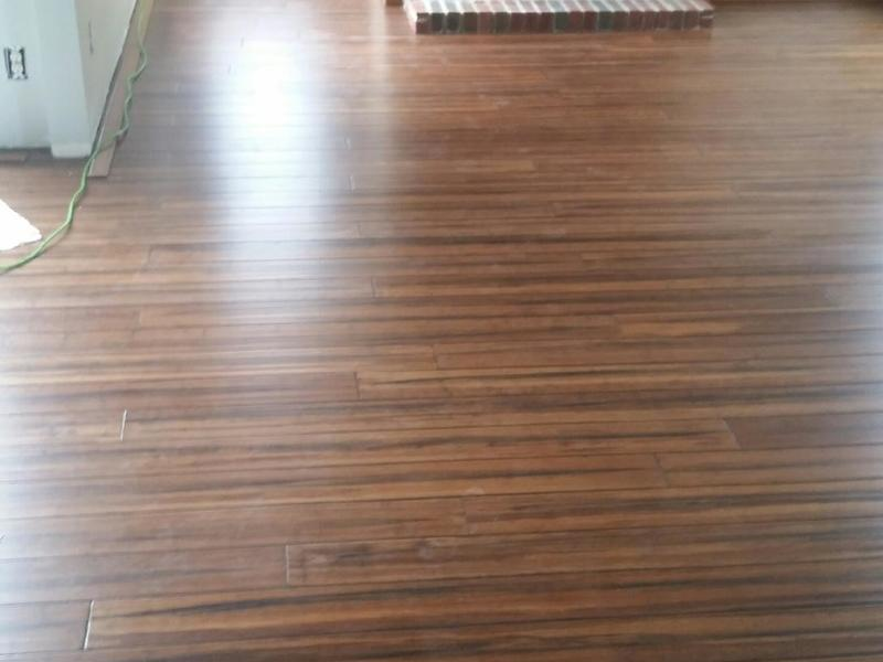 """Before and after image for 1/2"""" x 5-1/8"""" Antique Strand Distressed Bamboo"""