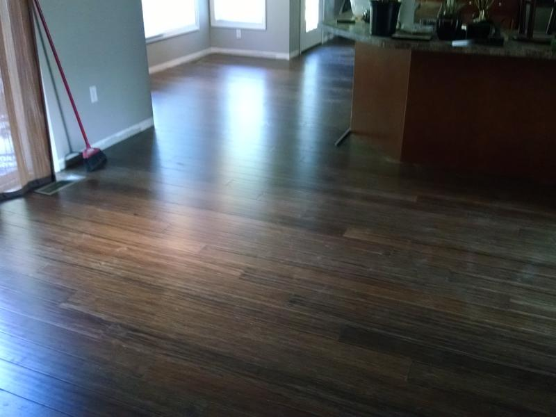 Bamboo Flooring Honey Strand Distressed Wide Plank Click