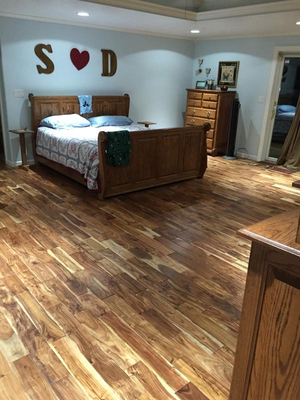 Before and after lumber liquidators for Tobacco road acacia wood flooring