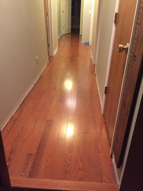 """Before and after image for 3/4"""" x 3-1/4"""" Williamsburg Oak Rustic"""