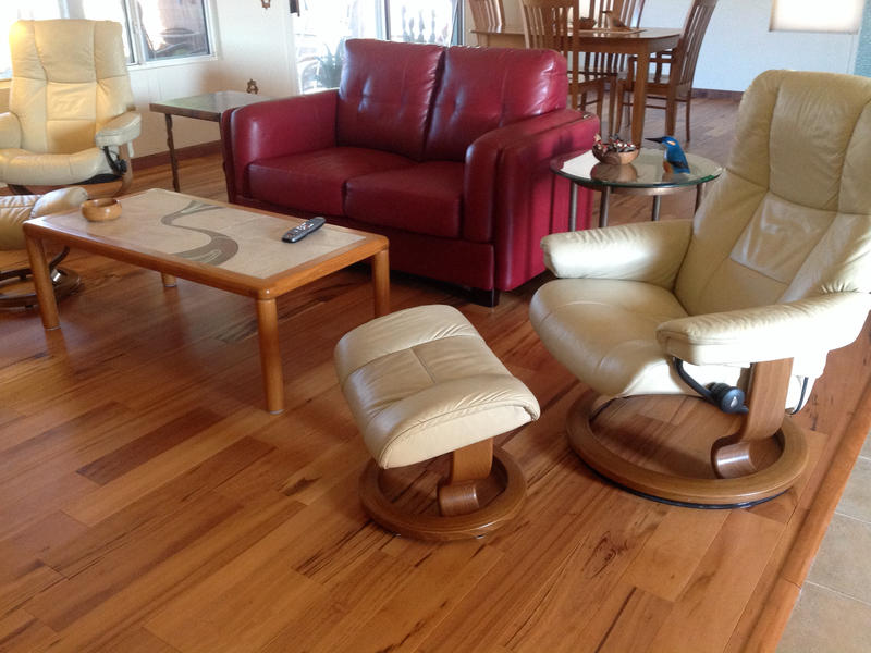 """Before and after image for 3/4"""" x 5"""" Matte Brazilian Koa"""