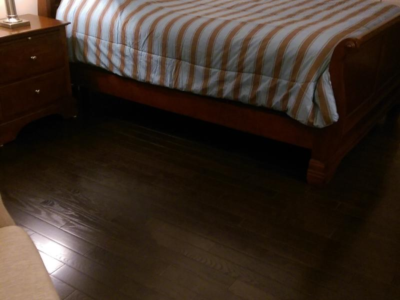"""Before and after image for 3/4"""" x 3-1/4"""" Espresso Oak"""