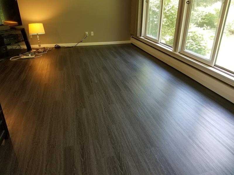 Coal creek oak evp coreluxe lumber liquidators for Evp flooring installation