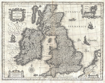 Blaeu Map of the British Isles (1631)