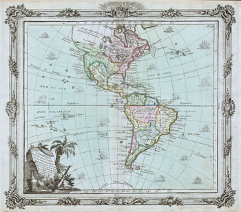 Brion de la Tour Map of North America and South America (1764)