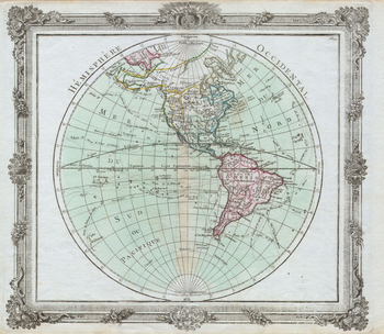 Brion de la Tour Map of the Western Hemisphere (1764)