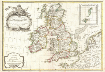 Zannoni Map of the British Isles: England, Scotland, Ireland (1771)