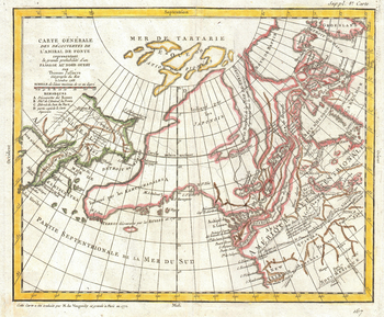 Map of Alaska, the Pacific Northwest and the Northwest Passage (1772)