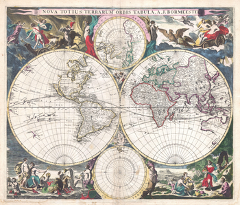 Bormeester Map of the World (1685)