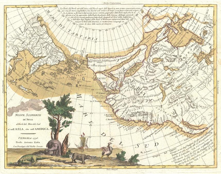 Zatta Map Of California And The Western Parts Of North America 1776