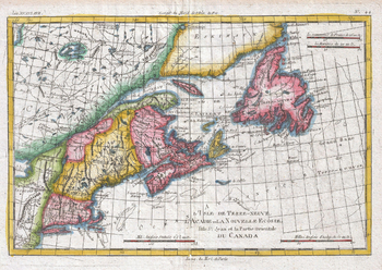 Map of New England and the Canadian Maritime Provinces (1780)