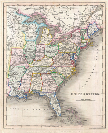 Gilbert Map of the United States (1843)
