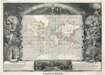 Levasseur Map of the World (1847)