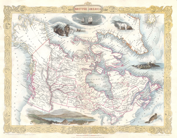 Tallis Map of Canada or British America with Oregon (1849)