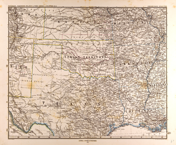 Central United States Map in German (1872)