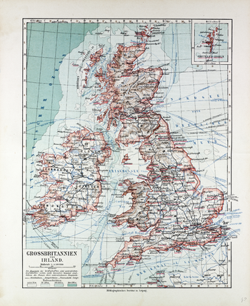 Map of Great Britain and Ireland in German (1899)