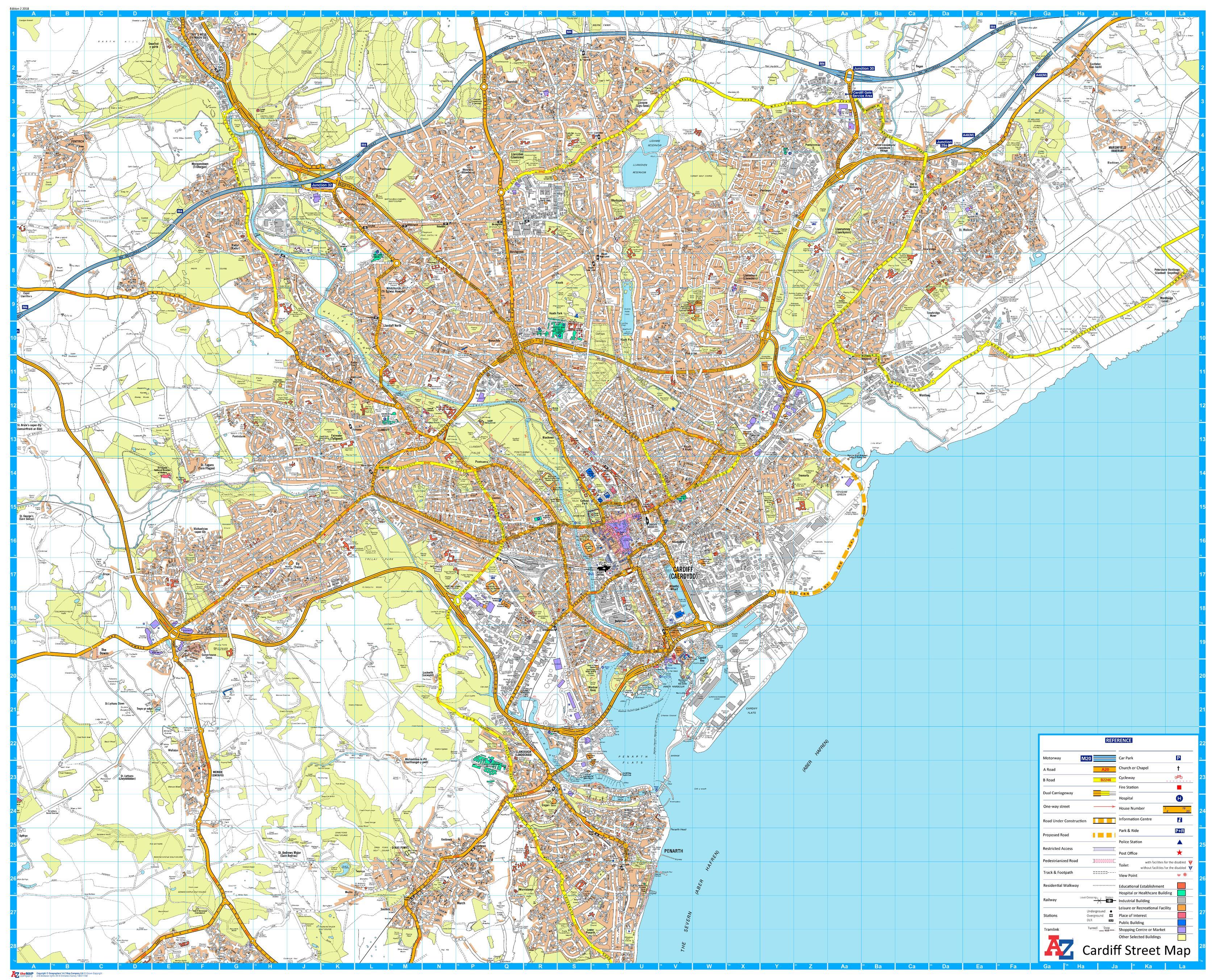 A-Z Cardiff Street Map