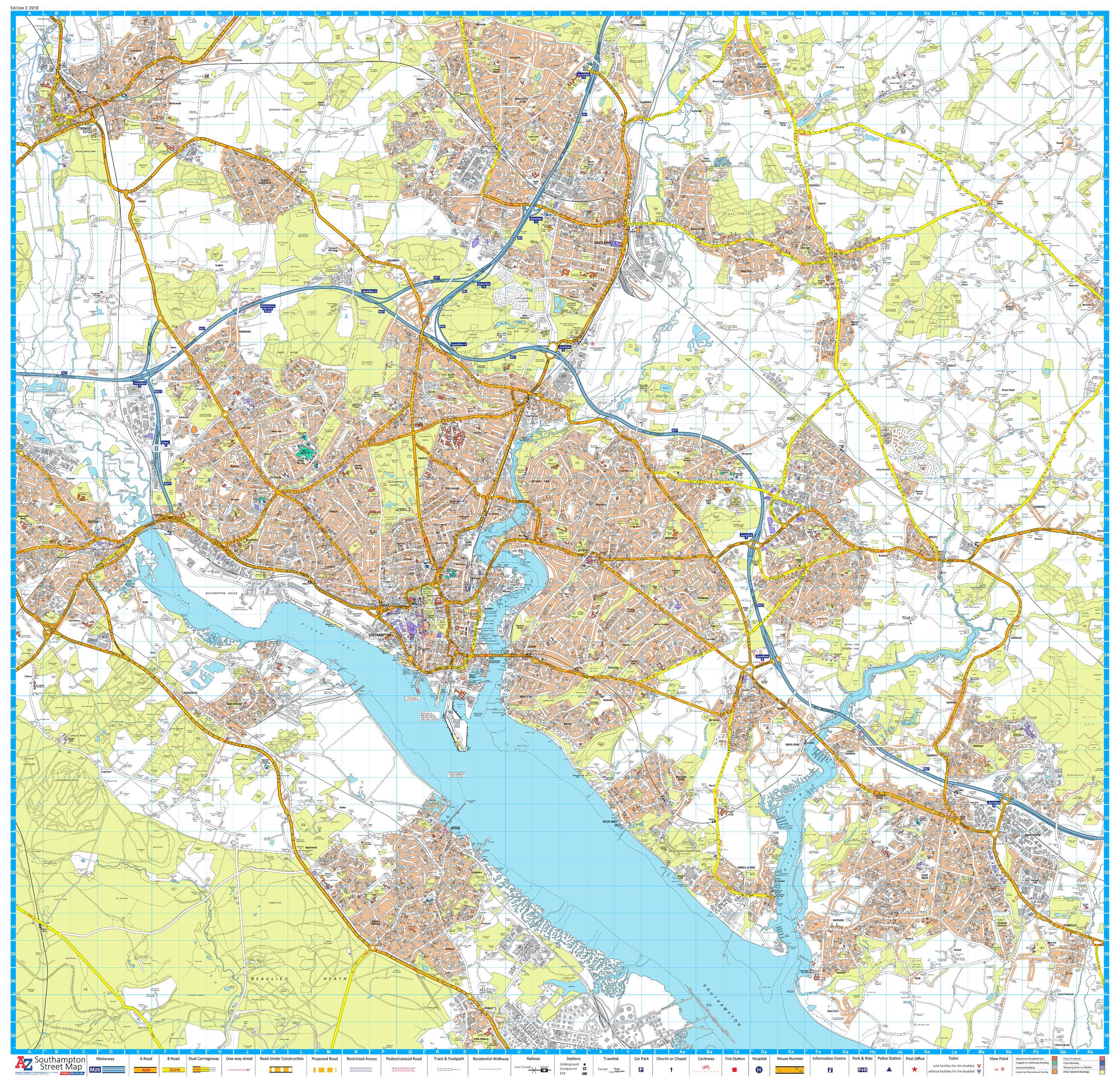 A-Z Southampton Street Map