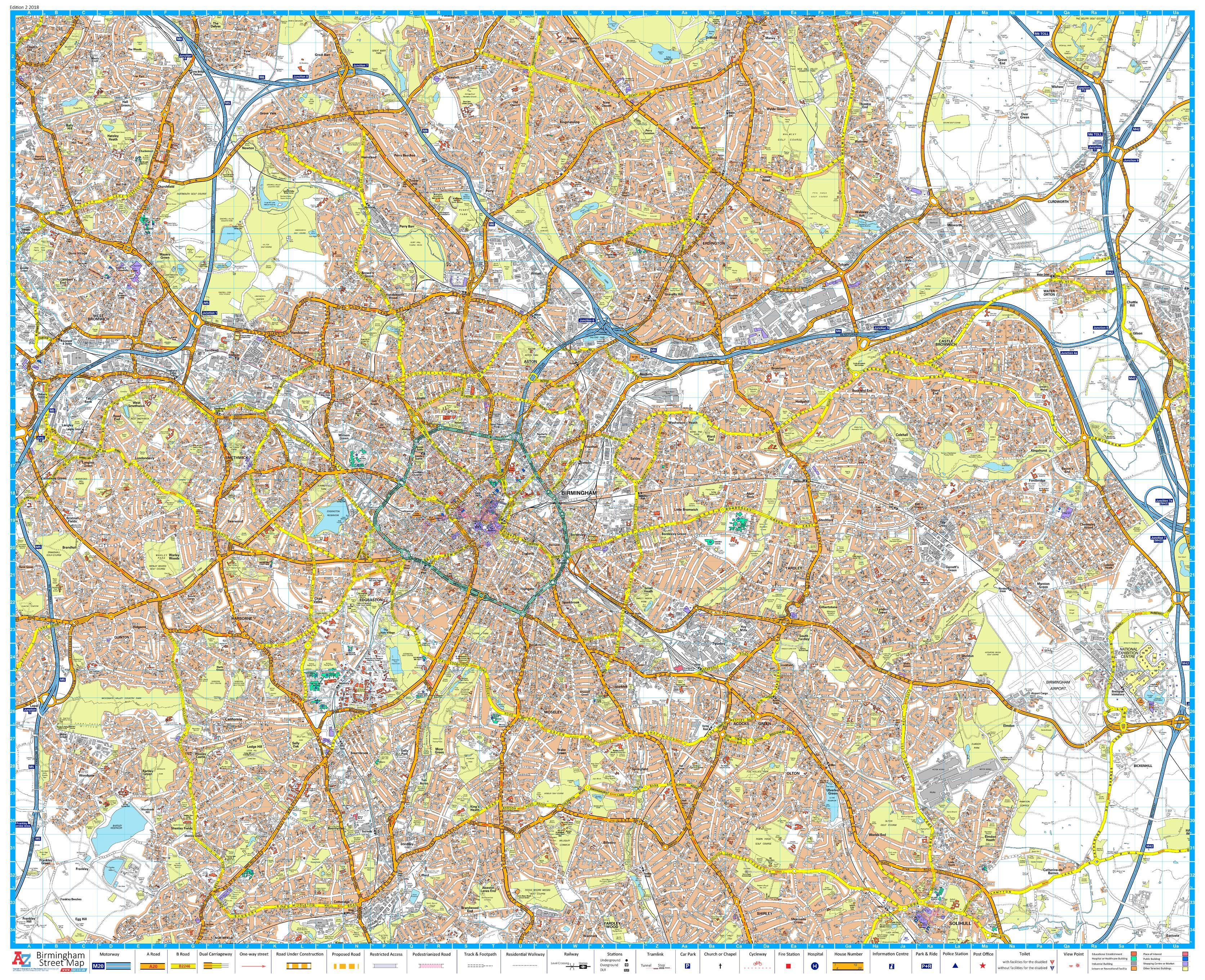 A-Z Birmingham Street Map