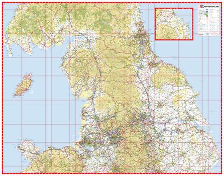 A-Z Northern England Road Map
