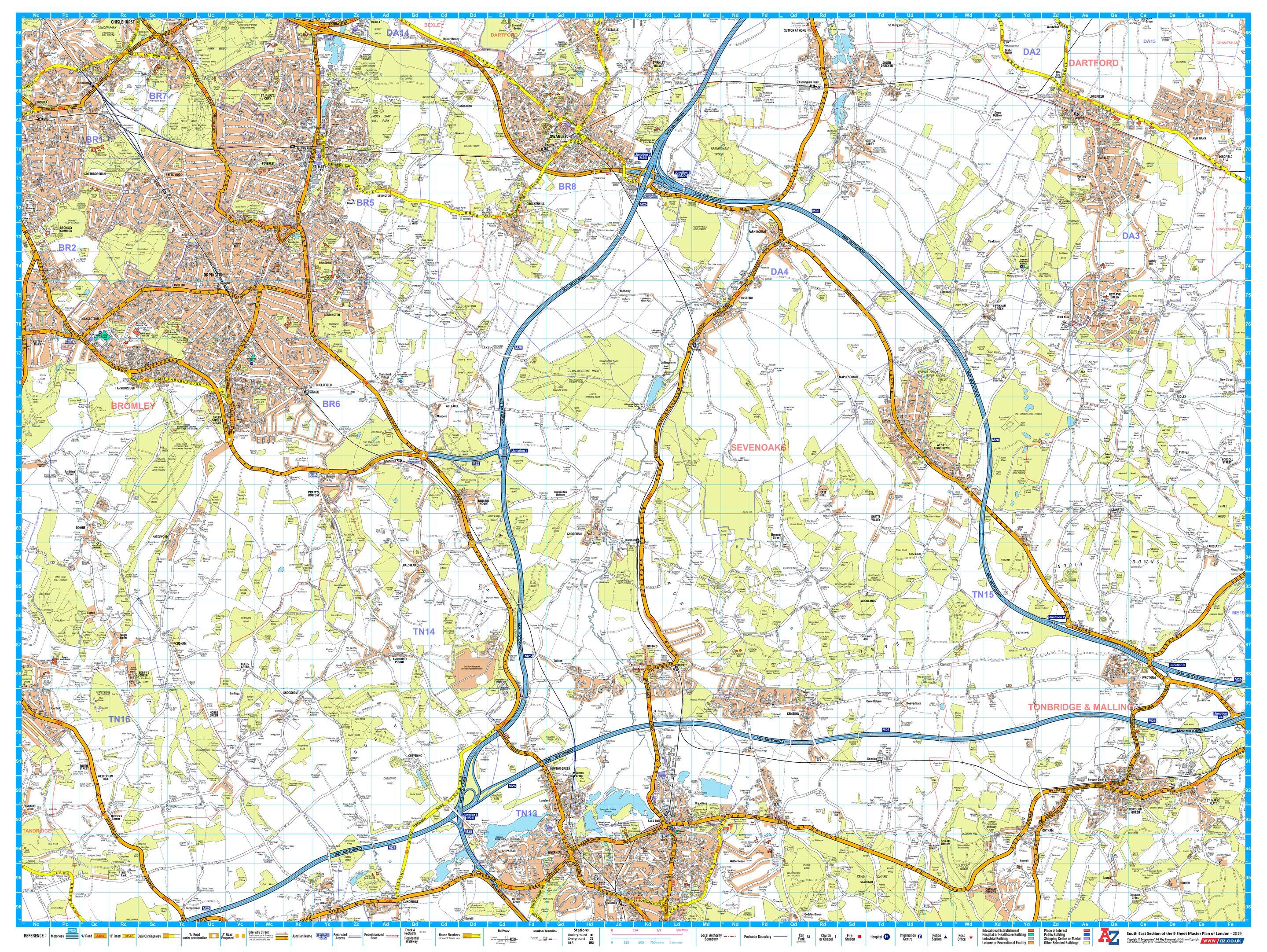 A-Z London Master Plan - South East