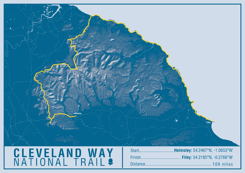 Cleveland Way National Trail Map Print