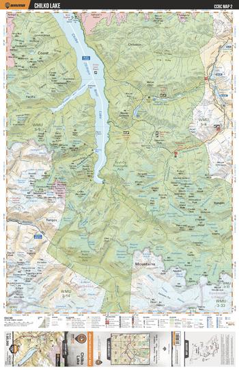 CCBC02 Chilko Lake - Cariboo Chilcotin Coast BC Topo