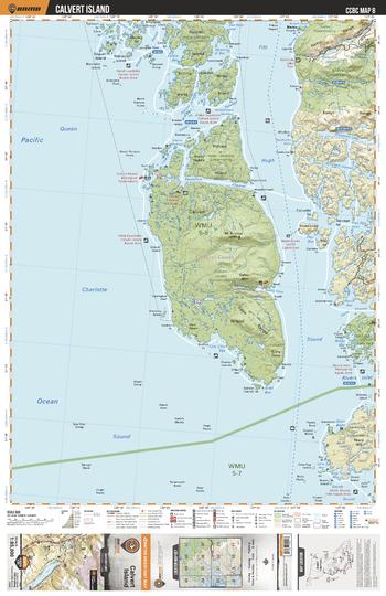 CCBC08 Calvert Island - Cariboo Chilcotin Coast BC Topo