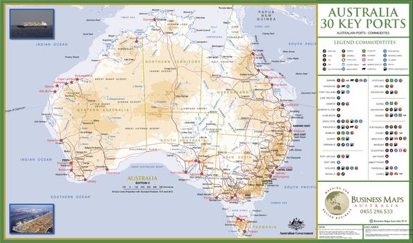 Australia's 30 Key Ports / Cargoes