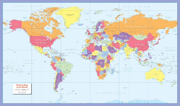 Mapsherpa pod world maps designed especially to work with any form of colour blindness this colourful easy to read childrens map of the world showing the countries and their gumiabroncs Image collections